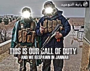 An Isis propaganda photograph.